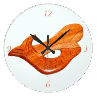 アーチ形にされた人魚の時計 ラージ壁時計