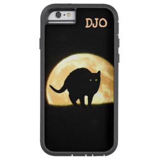 アーチ形になる黒猫および極度の月 TOUGH XTREME iPhone 6 ケース