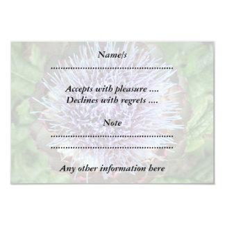 アーティチョークの花を開けて下さい。 紫色 カード