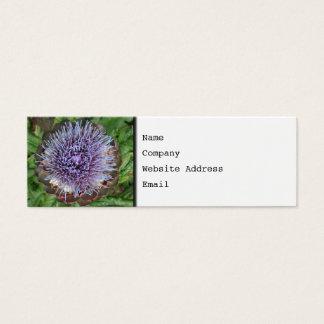 アーティチョークの花を開けて下さい。 紫色 スキニー名刺