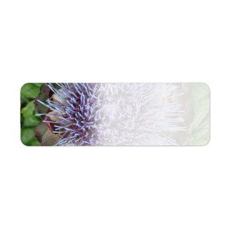 アーティチョークの花を開けて下さい。 紫色 ラベル