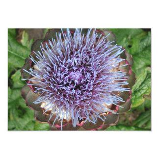 アーティチョークの花を開けて下さい。 紫色 12.7 X 17.8 インビテーションカード