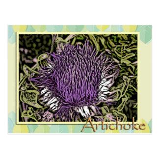 アーティチョークの花 ポストカード