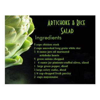 アーティチョーク及び米サラダ… ポストカード