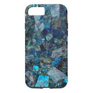 アートで抽象的な曹灰長石のモザイクiPhone 7の場合 iPhone 8/7ケース