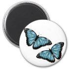 アートで青い蝶 マグネット