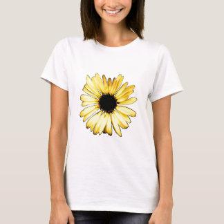 アートで黄色いガーベラのデイジー Tシャツ