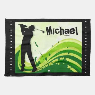 アートなゴルフプレーヤー キッチンタオル