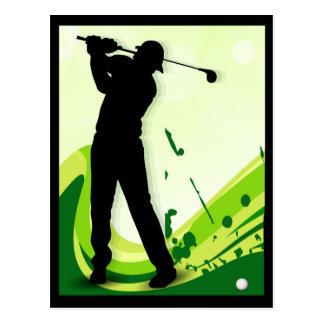 アートなゴルフプレーヤー ポストカード