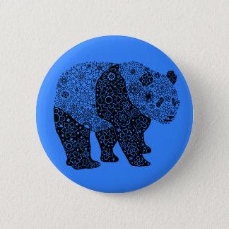 アートなパンダくま円形ボタン 5.7CM 丸型バッジ