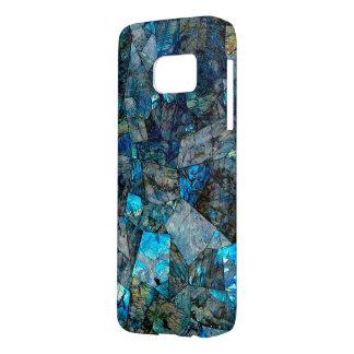 アートな曹灰長石の抽象芸術の宝石の銀河系S7の箱 SAMSUNG GALAXY S7 ケース