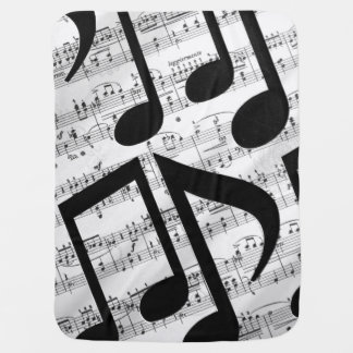 アートな楽譜 ベビー ブランケット