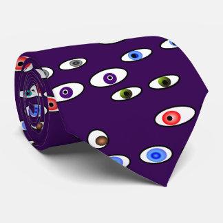 アートな目の球の検眼医の紫色 ネックウェアー