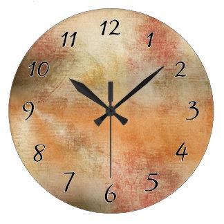 アートな秋の抽象芸術 ラージ壁時計