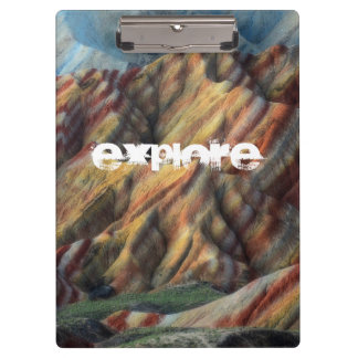 アートな美しい自然の景色山 クリップボード