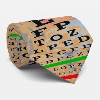 アートな視力検査表の検眼医の金ゴールド オリジナルネクタイ