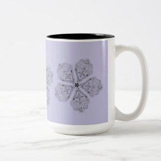 アートなBohoの花のカスタムのタンブラー ツートーンマグカップ