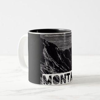 アートなmontaukのコーヒー・マグ ツートーンマグカップ