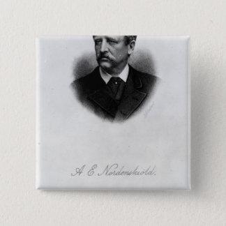 アードルフエリックNordenskiold 1880年 5.1cm 正方形バッジ