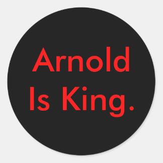 アーノルドは王です ラウンドシール