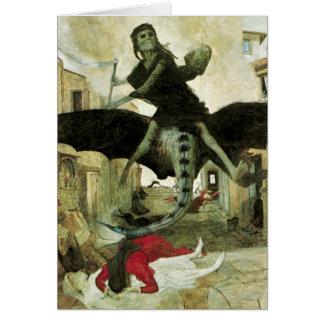 アーノルドBocklinのヴィンテージの象徴性著ペスト カード