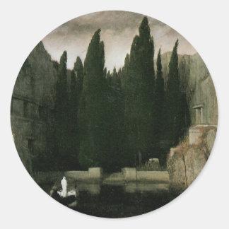 アーノルドBocklinの象徴性の芸術著死者の島 ラウンドシール