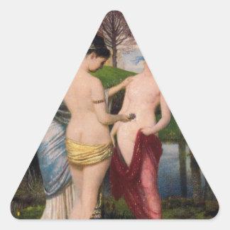 アーノルドBöcklin著はねる賛美歌 三角形シール