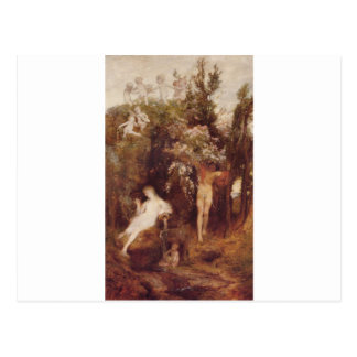 アーノルドBöcklin著愛の春 ポストカード