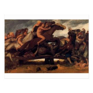 アーノルドBöcklin著橋の戦い ポストカード