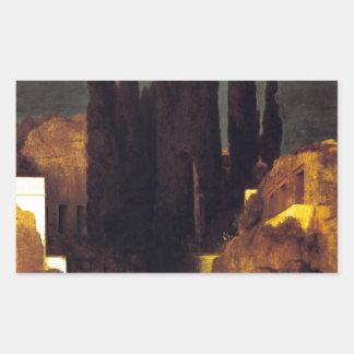 アーノルドBöcklin著死者の島 長方形シール