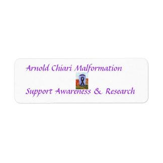 アーノルドChiariの奇形サポート認識度 ラベル