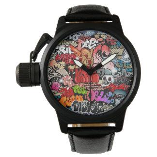 アーバン・ダイナミックスの通りの芸術の落書きの芸術パターン 腕時計