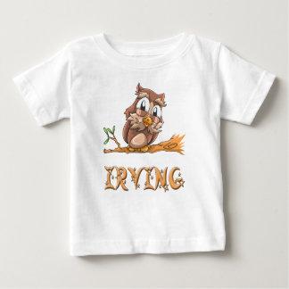 アービングのフクロウのベビーのTシャツ ベビーTシャツ