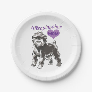 アーフェンピンシャーのお母さんのカスタムな紙皿 ペーパープレート