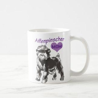 アーフェンピンシャーのお母さんのマグ コーヒーマグカップ