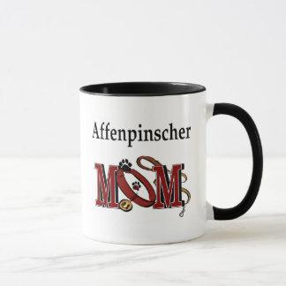 アーフェンピンシャーのお母さんのマグ マグカップ