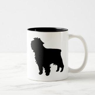 アーフェンピンシャーのギア ツートーンマグカップ