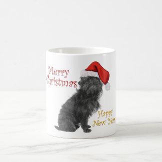 アーフェンピンシャーのクリスマス コーヒーマグカップ