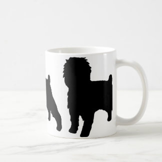 アーフェンピンシャーのサイロの黒 コーヒーマグカップ