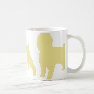 アーフェンピンシャーのサイロベージュ色 コーヒーマグカップ