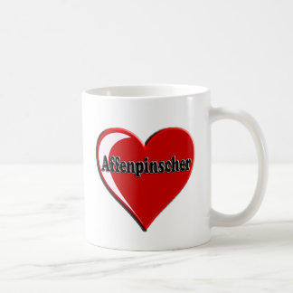 アーフェンピンシャーのハート コーヒーマグカップ