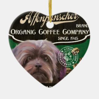 アーフェンピンシャーのブランド- Organic Coffee Company セラミックオーナメント