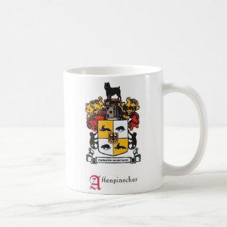 アーフェンピンシャーの紋章付き外衣 コーヒーマグカップ