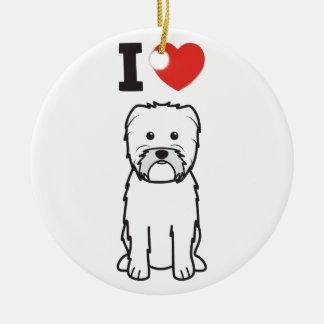 アーフェンピンシャー犬の漫画 セラミックオーナメント