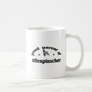 アーフェンピンシャー犬の親 コーヒーマグカップ