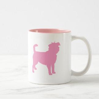 アーフェンピンシャー(ピンク) ツートーンマグカップ