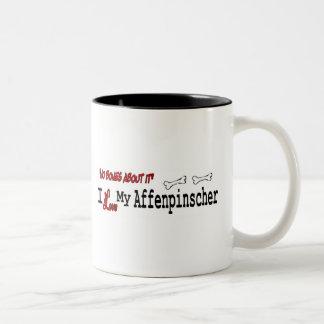 アーフェンピンシャー(I愛)のマグ ツートーンマグカップ