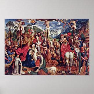 アーヘンの祭壇(Passionstriptychon)の中間のパネル: Cr ポスター