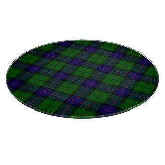アームストロングの一族のタータンチェックの青緑の格子縞 カッティングボード