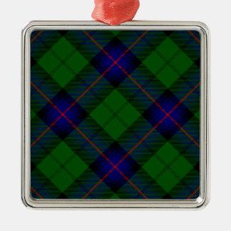 アームストロングの一族のタータンチェックの青緑の格子縞 メタルオーナメント